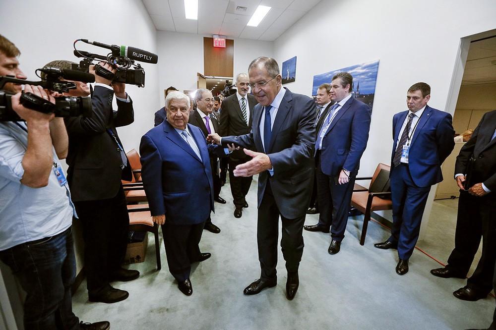 Сергей Лавров и Валид Муаллем