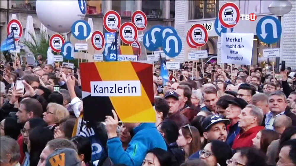 Митинг противников политики Ангелы Меркель
