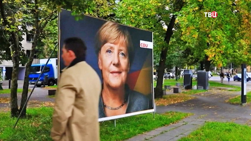 Ангела Меркель на плакате