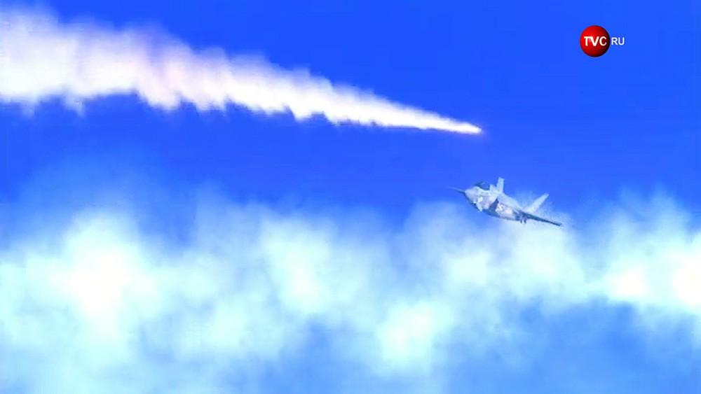 На видео издания DPRK Today показано, как ракеты КНДР уничтожают истребитель США