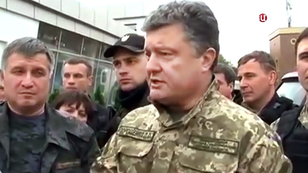 Арсен Аваков и Пётр Порошенко