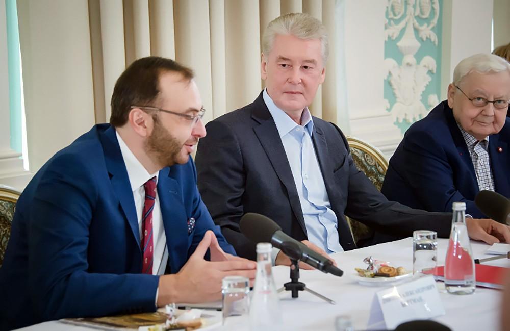 Сергей Собянин на встрече с руководителями московских театров