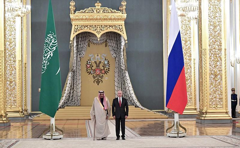 Владимир Путин и Король Саудовской Аравии Сальман Бен Абдель Азиз Аль Сауд
