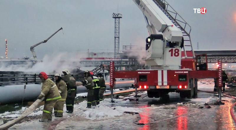 Пожар на НПЗ в Нижегородской области