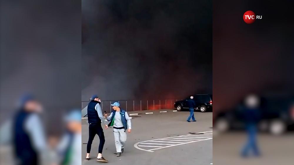 """Пожар на рынке """"Синдика"""""""