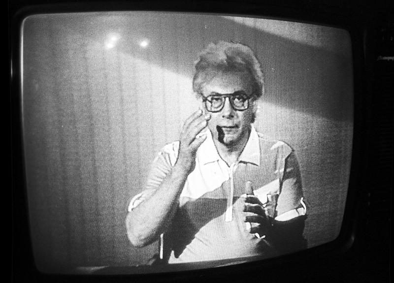 """Экстрасенс Алан Чумак во время психотерапевтического сеанса в программе Центрального телевидения """"120 минут"""""""