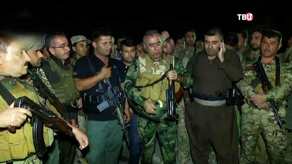 Бойцы Курдского ополчения