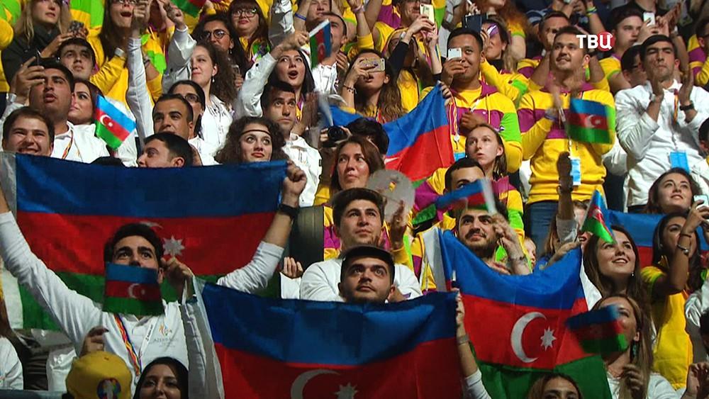 Церемония открытия XIX Всемирного фестиваля молодежи и студентов