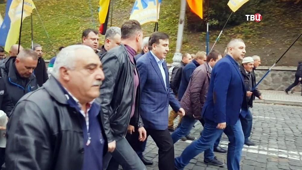 Михаил Саакашвили на митинге