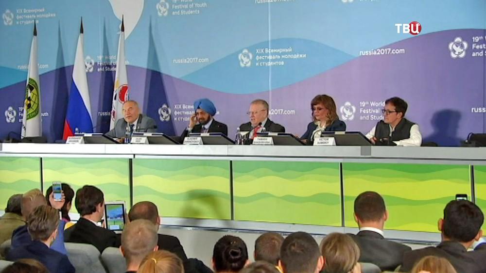 Владимир Жириновский принял участие в дискуссии на Всемирном фестивале молодежи