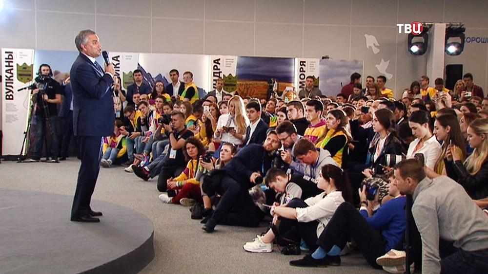 Вячеслав Володин принял участие в дискуссии на Всемирном фестивале молодежи