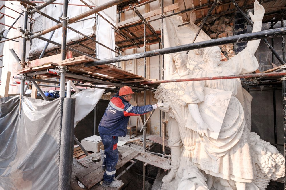 Реставрация павильонов ВДНХ