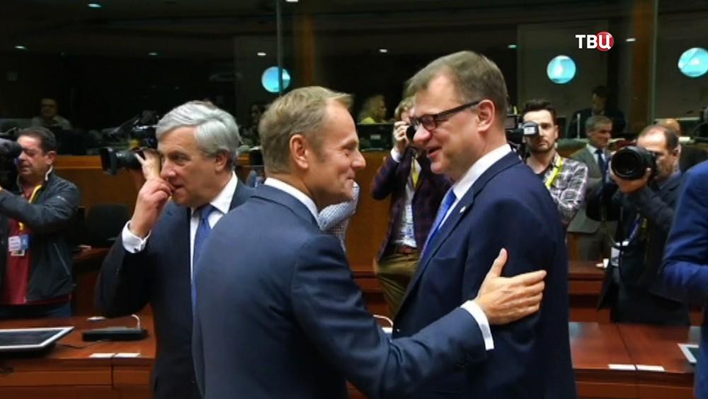 Дональд Туск на саммите ЕС