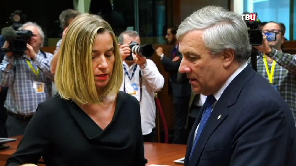 Федерика Могерини на саммите ЕС