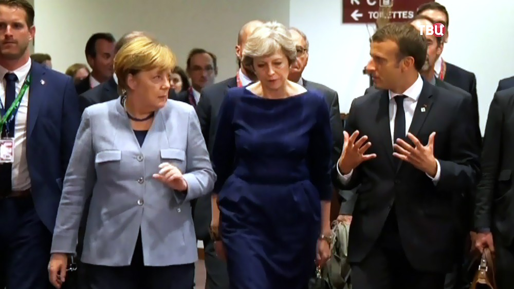 Ангела Меркель, Тереза Мэй и Эммануэль Макрон