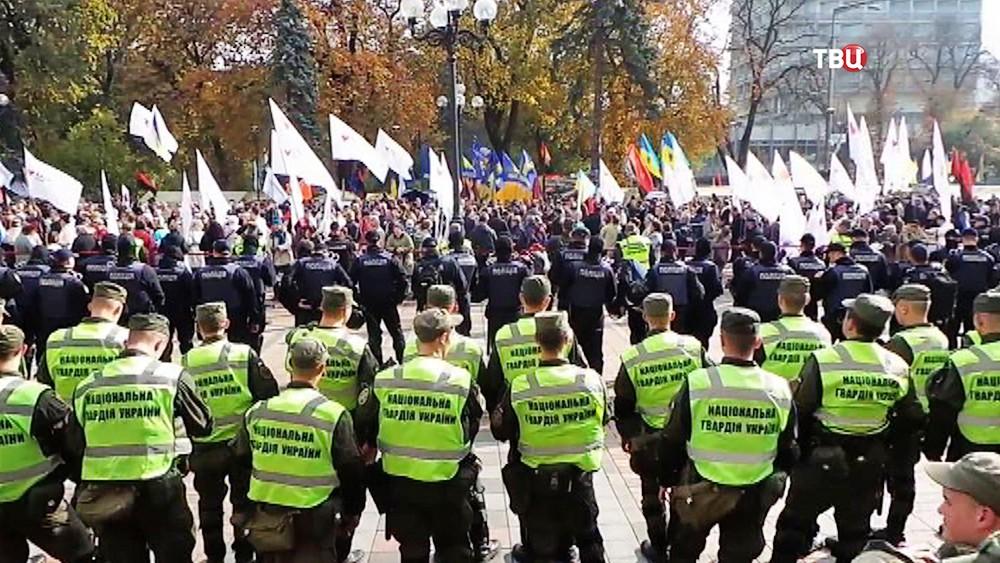 Полиция Украине на митинге