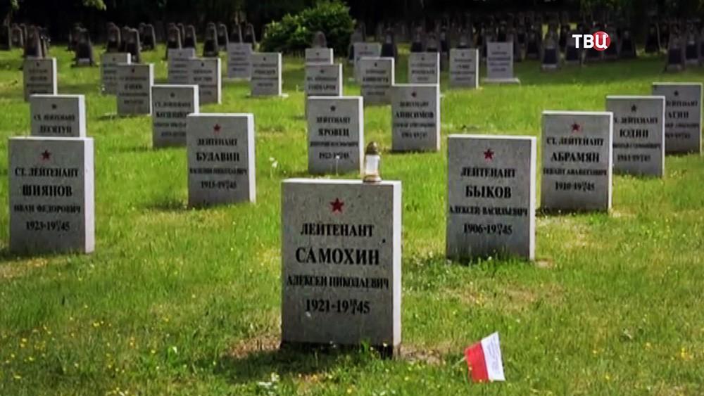 Надгробия советских воинов в Польше
