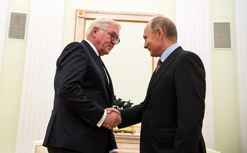 Президент России Владимир Путин и президент Германии Франк-Вальтер Штайнмайер