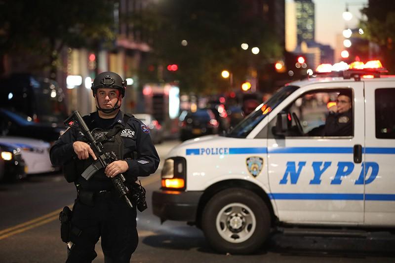 Полиция США на месте теракта в Нью-Йорке