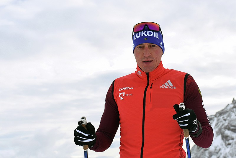 Российский лыжник Александр Легков