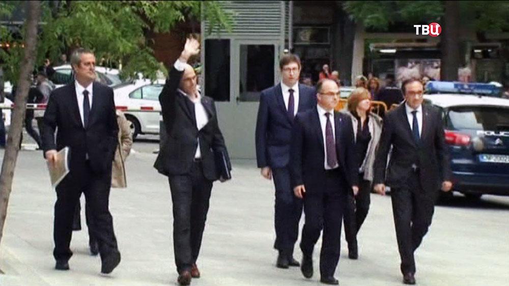 Задержанные министры правительства Каталонии