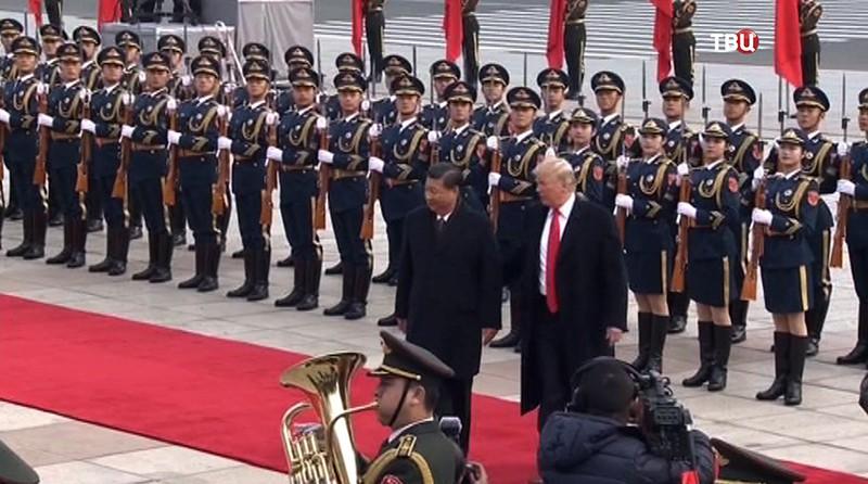 Дональд Трамп и Си Цзиньпин в Китае