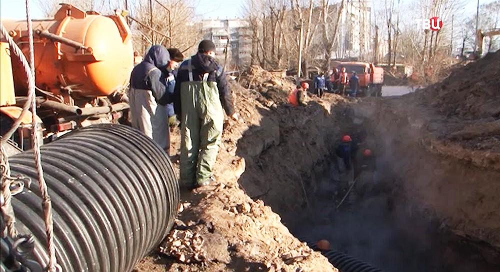 Устранение коммунальной аварии в Улан-Удэ