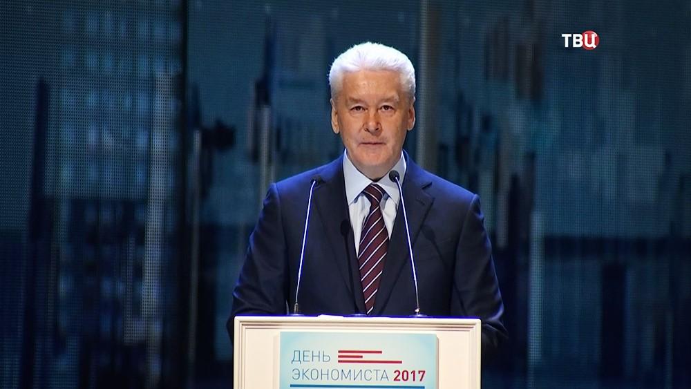 Сергей Собянин на церемонии награждении специалистов в области экономики