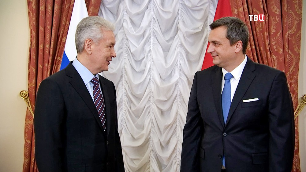 Мэр Москвы Сергей Собянин и председатель Национального совета Словацкой республики Андрей Данко
