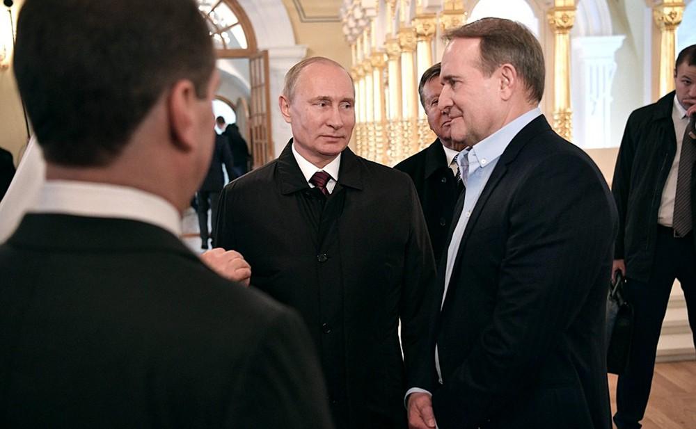 Владимир Путин и Виктора Медведчук