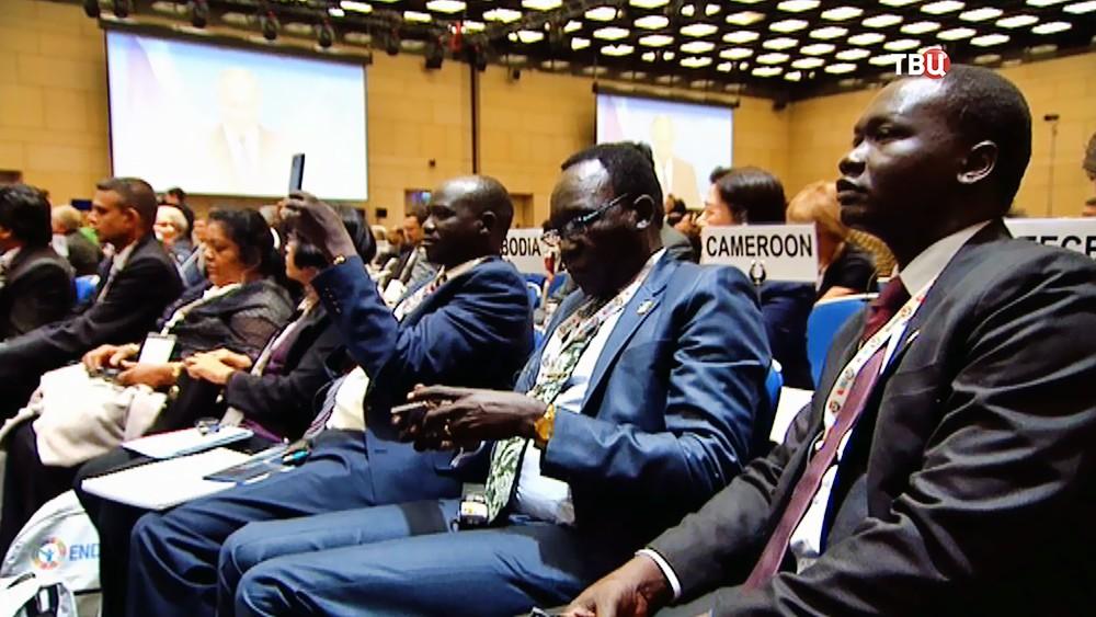 Участники конференции Всемирной организации здравоохранения (ВОЗ)