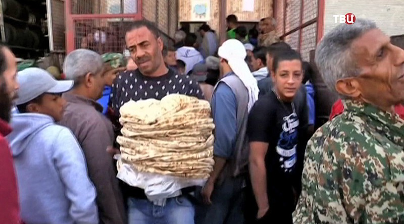 Гумпомощь для жителей Сирии