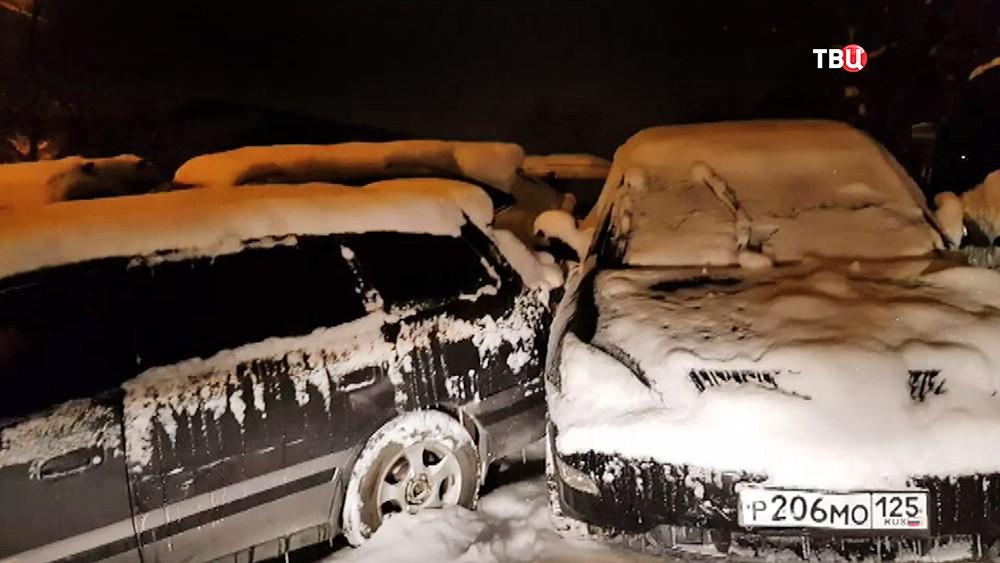 Последствия ДТП во Владивосток