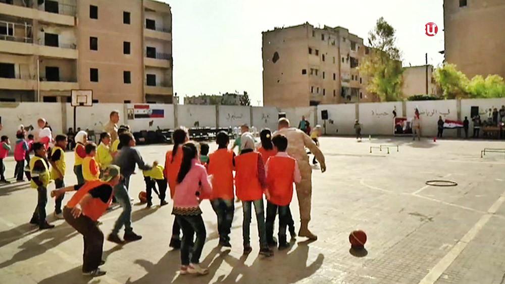 Спортивный праздник для сирийских школьников