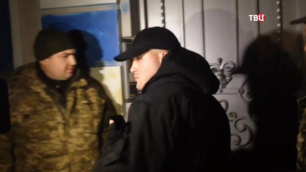 Украинские радикалы возле особняка президента Порошенко