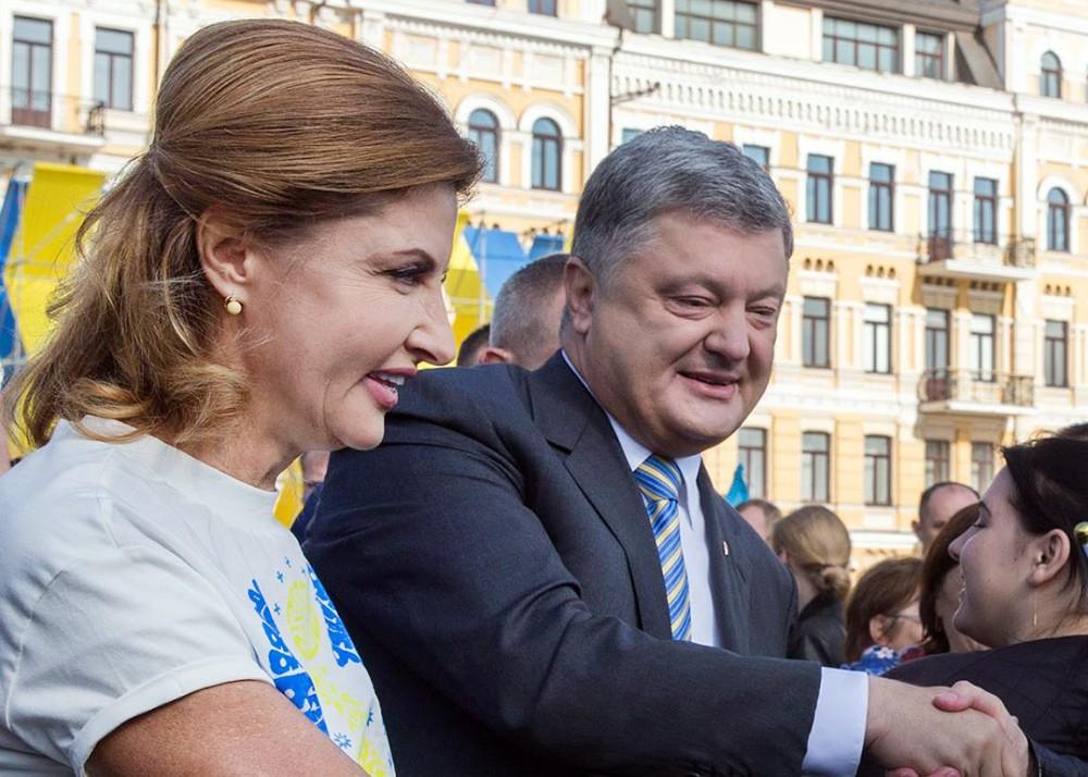 Жена президента Украины Марина Порошенко с супругом