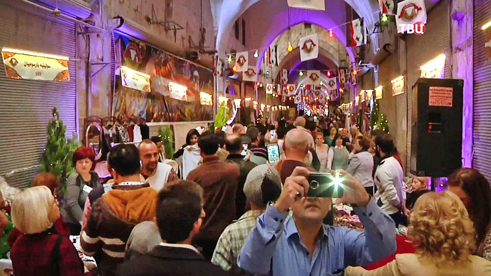 Рынок Хан аль-Джумрук в Алеппо