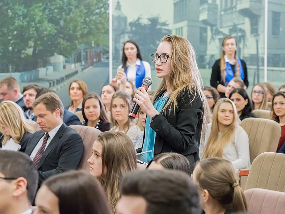 Студенты Российского экономического университета имени Г.В. Плехановае