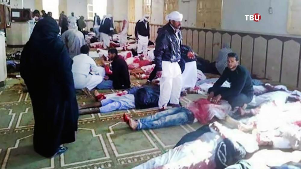 Пострадавшие в теракте в Египте