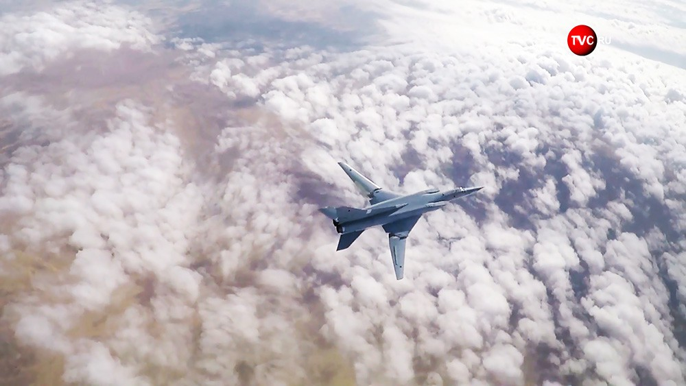 Стратегический бомбардировщик Ту-22М3 ВКС России
