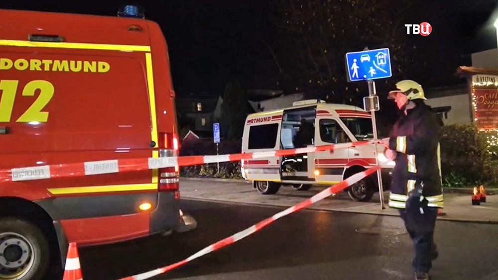 Полиция Германии оцепляет место происшествия