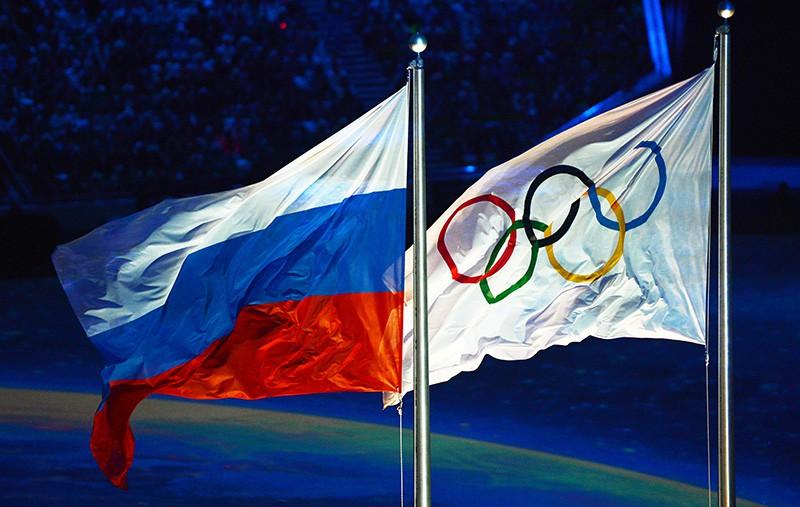 Флаг России и Олимпиады