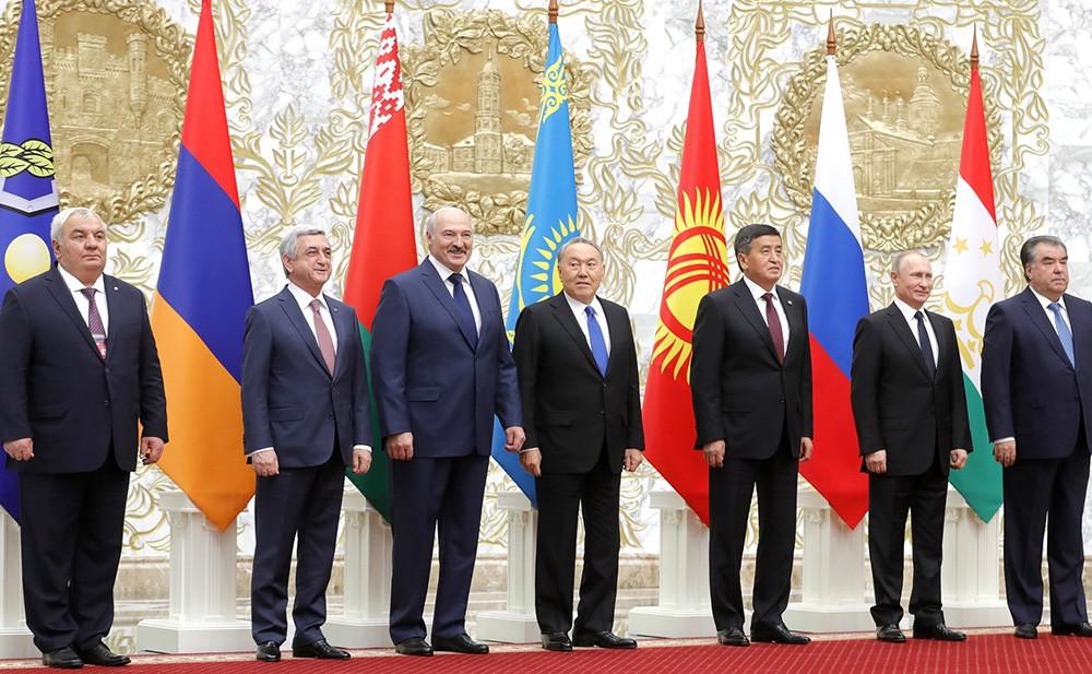 Участники заседания Совета коллективной безопасности ОДКБ