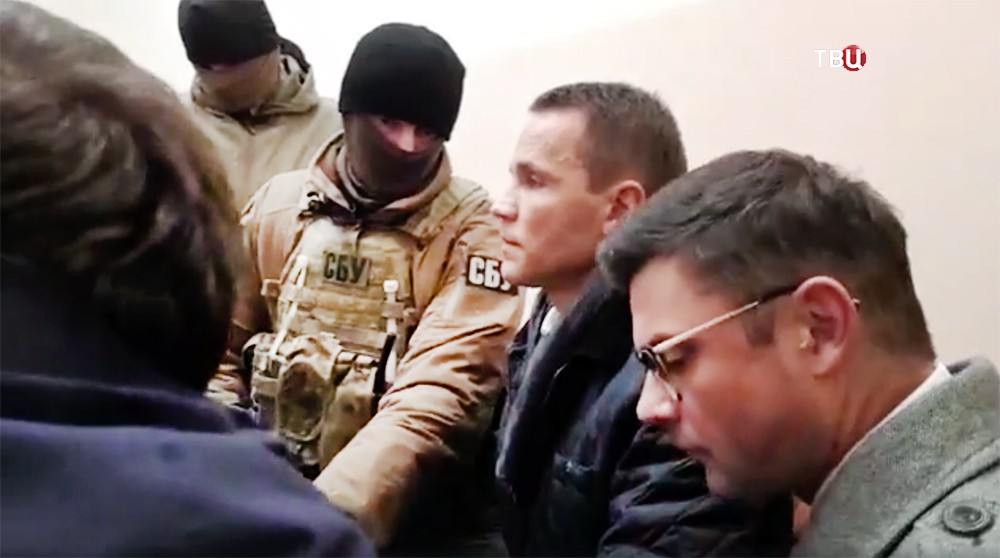 Бойцы СБУ на месте задержания Михаила Саакашвили