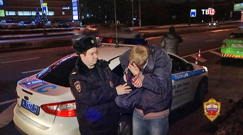 Задержанный водитель, сбивший семью на Алтуфьевском шоссе
