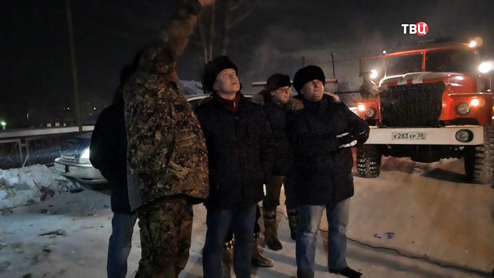 На месте взрыва газа в многоквартирном доме в Иркутской области