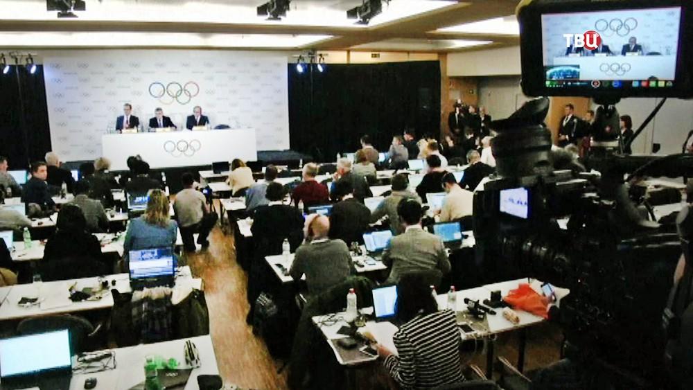 Баседание Международного олимпийского комитета (МОК)