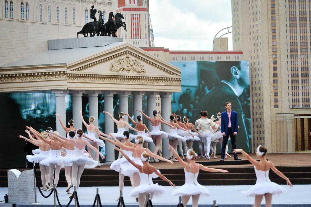 Уличное представление в Москве