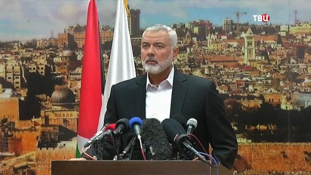 Лидер движения ХАМАС Исмаил Хания