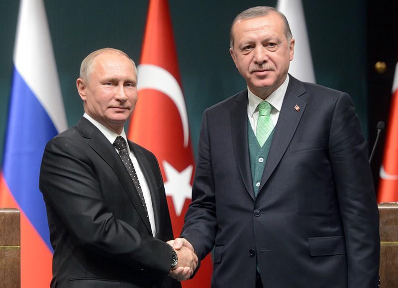 Президент России Владимир Путин и президент Турции Реджеп Тайип Эрдоган